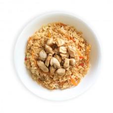 Курица в соусе терияки с рисом и овощами